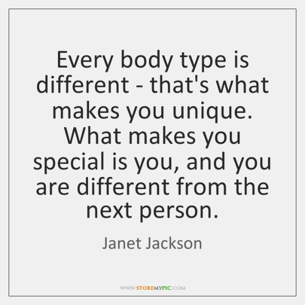 Every Body Type Is Different Thats What Makes You Unique What