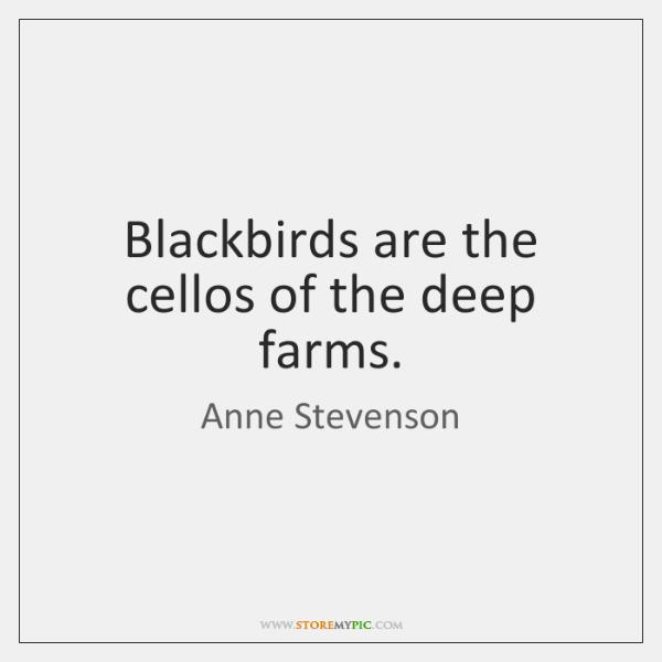 Blackbirds are the cellos of the deep farms.
