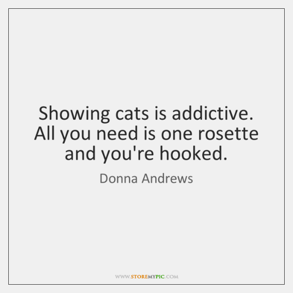 Showing cats is addictive. All you need is one rosette and you're ...