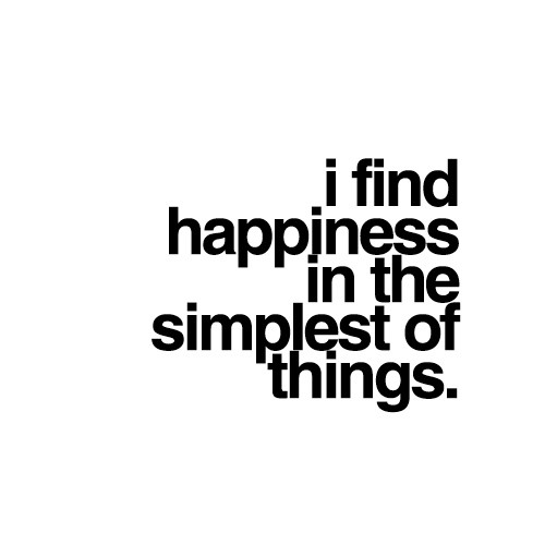 Happiness in simple things