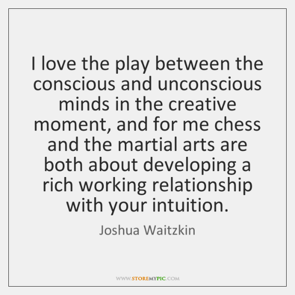 I love the play between the conscious and unconscious minds in the ...
