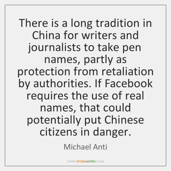 There is a long tradition in China for writers and journalists to ...