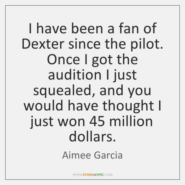 I have been a fan of Dexter since the pilot. Once I ...