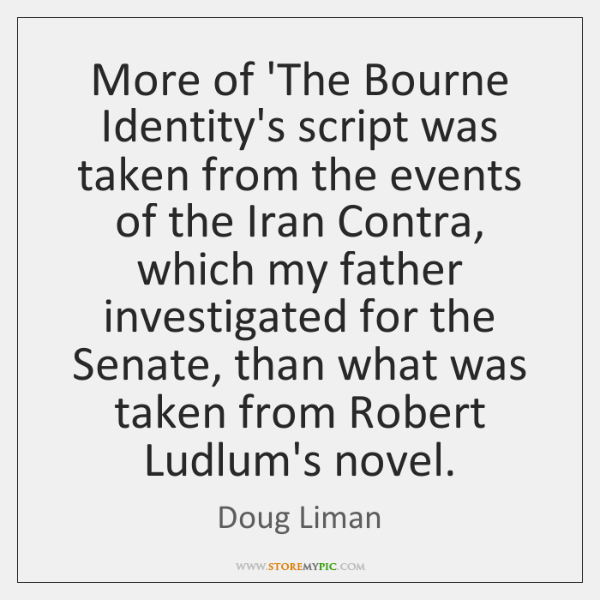 More of 'The Bourne Identity's script was taken from the events of ...