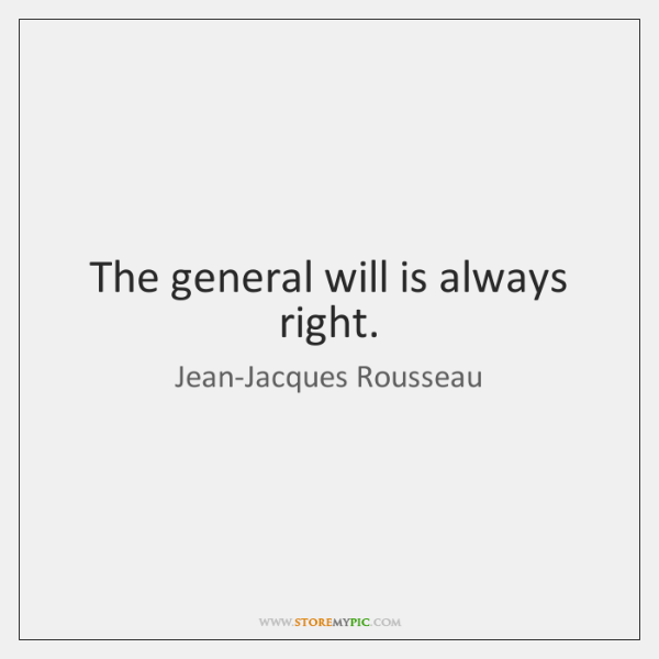 rousseau on general will