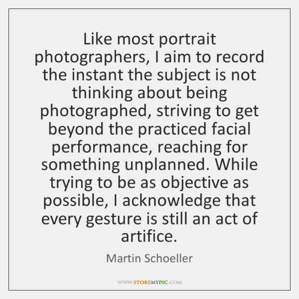 Like most portrait photographers, I aim to record the instant the subject ...