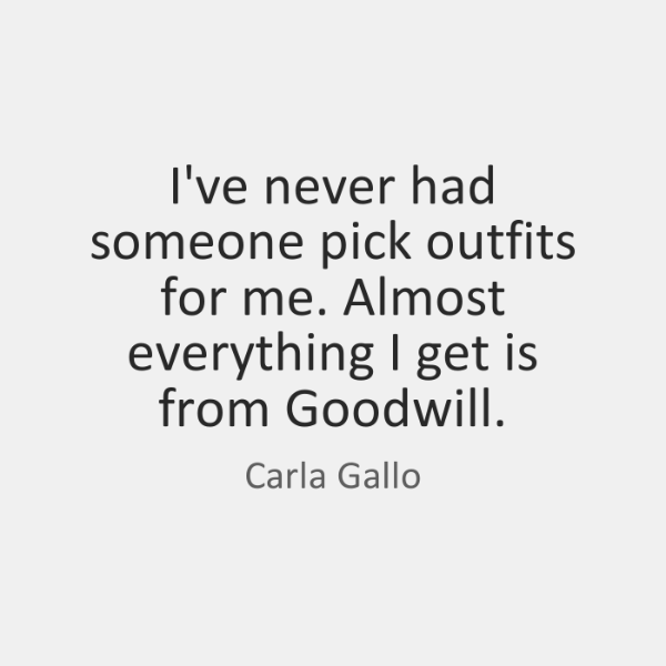 I've never had someone pick outfits for me. Almost everything I get ...