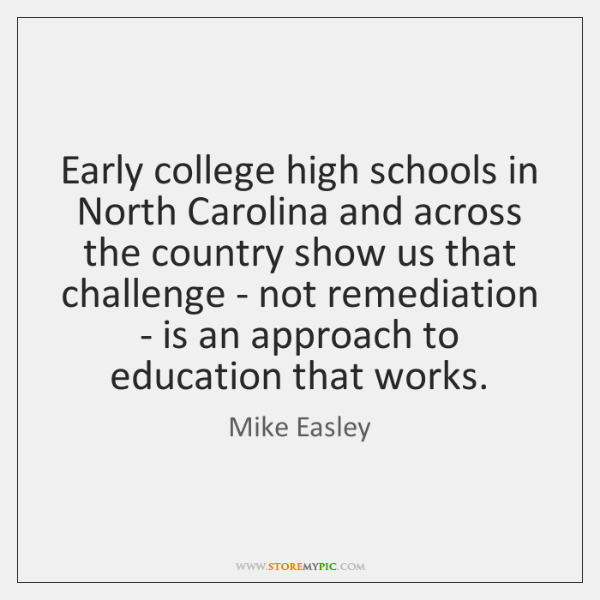 Early college high schools in North Carolina and across the country show ...