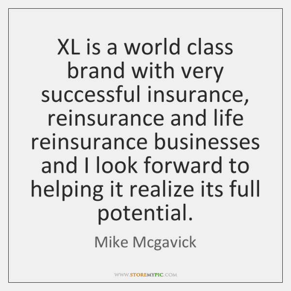XL is a world class brand with very successful insurance, reinsurance and ...