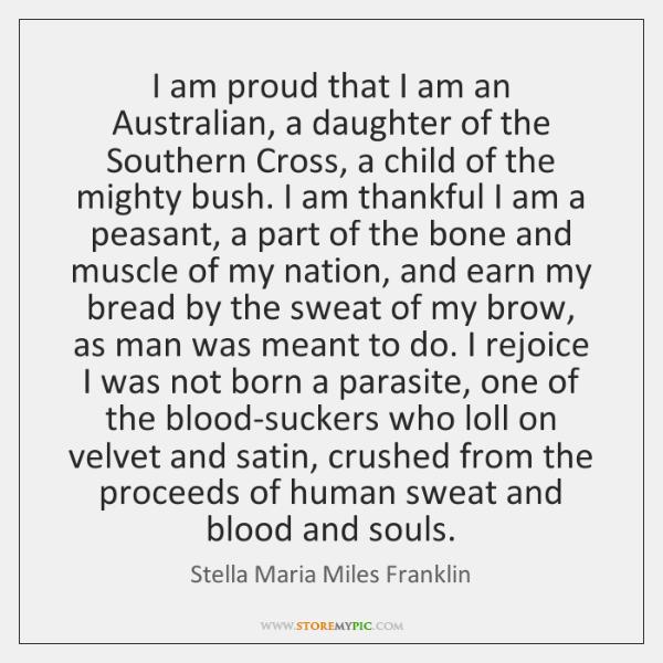 I am proud that I am an Australian, a daughter of the ...