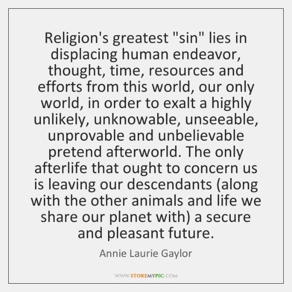 Religion's greatest