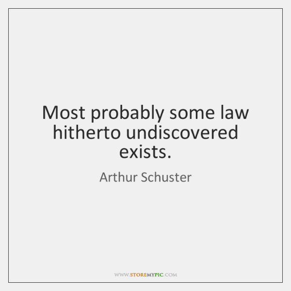 Most probably some law hitherto undiscovered exists.