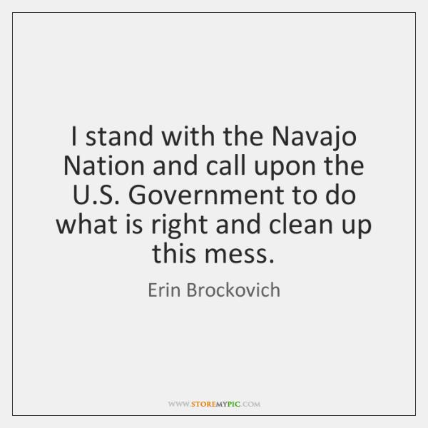 I stand with the Navajo Nation and call upon the U.S. ...