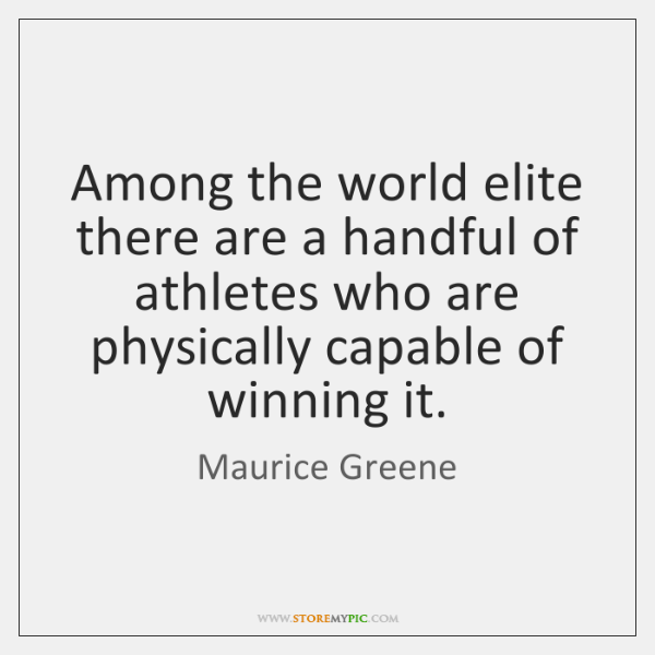 Among the world elite there are a handful of athletes who are ...