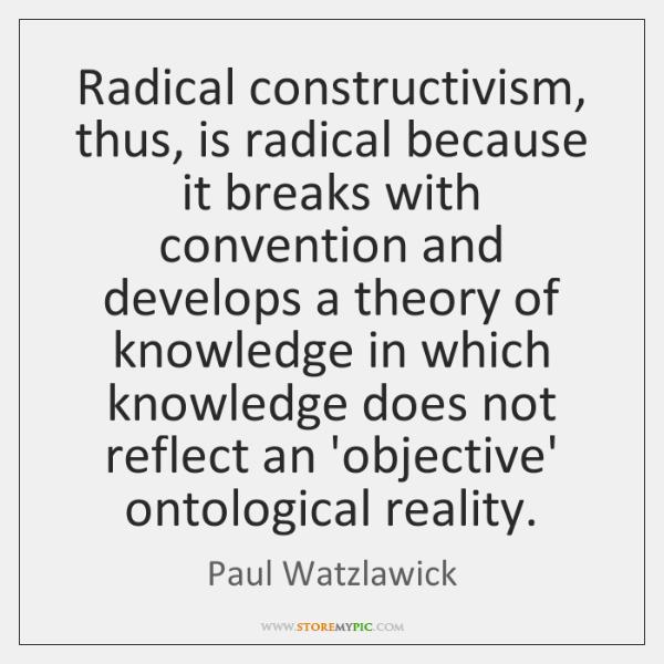 radical constructivism definition