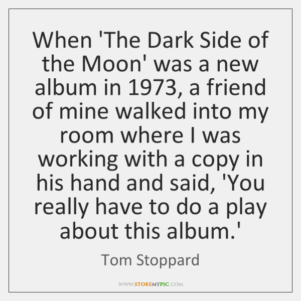 When The Dark Side Of The Moon Was A New Album In 1973