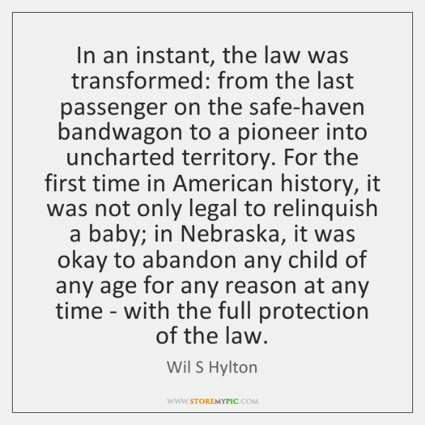 In an instant, the law was transformed: from the last passenger on ...