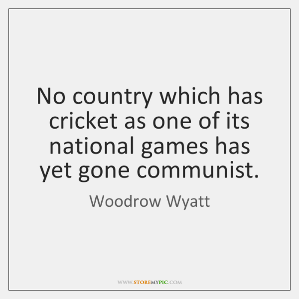 No country which has cricket as one of its national games has ...
