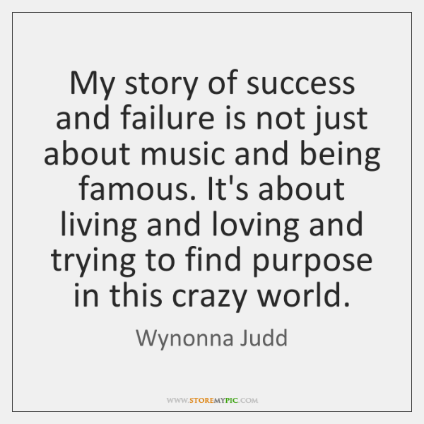 My story of success and failure is not just about music and ...