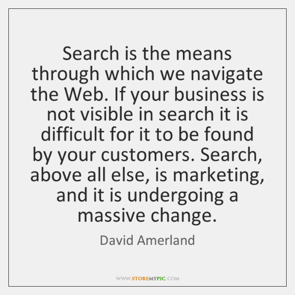 Search is the means through which we navigate the Web. If your ...