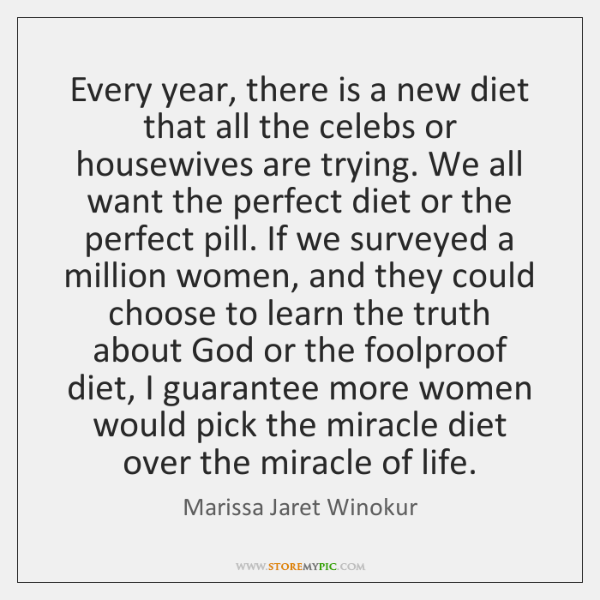 Every year, there is a new diet that all the celebs or ...