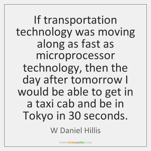 If transportation technology was moving along as fast as microprocessor technology, then ...