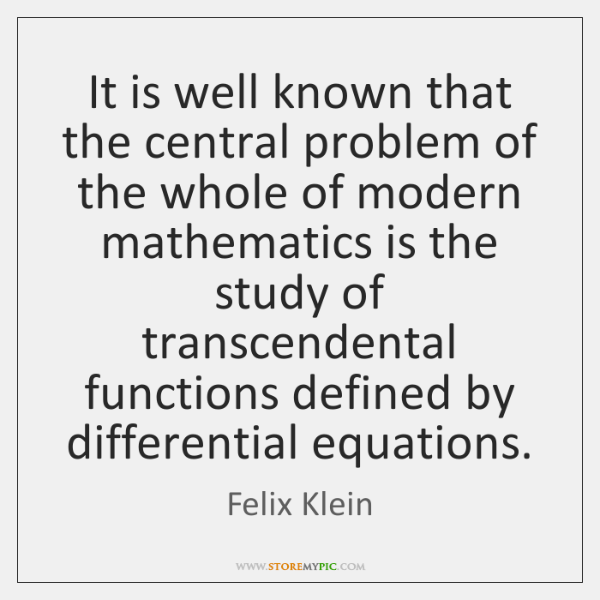 It is well known that the central problem of the whole of ...