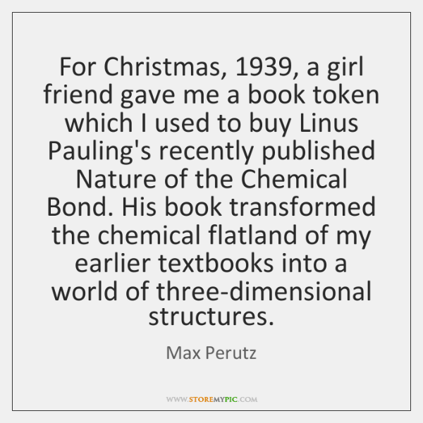 For Christmas, 1939, a girl friend gave me a book token which I ...