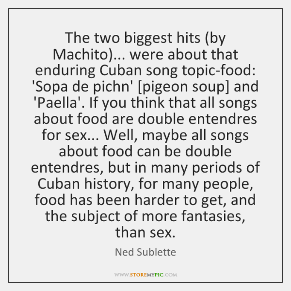 The two biggest hits (by Machito)... were about that enduring Cuban song ...