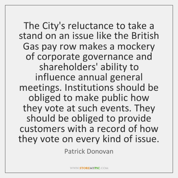 The City's reluctance to take a stand on an issue like the ...