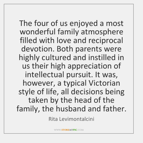 The four of us enjoyed a most wonderful family atmosphere filled with ...