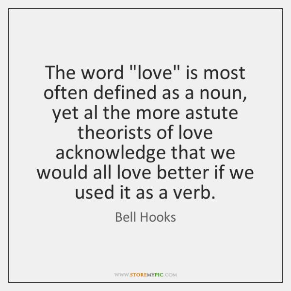 bell hooks love definition