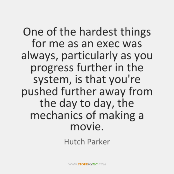 One of the hardest things for me as an exec was always, ...