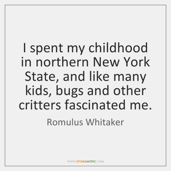I spent my childhood in northern New York State, and like many ...
