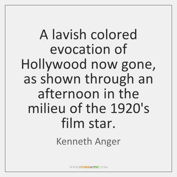 A lavish colored evocation of Hollywood now gone, as shown through an ...
