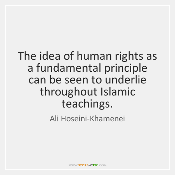 The idea of human rights as a fundamental principle can be seen ...