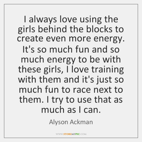 I always love using the girls behind the blocks to create even ...