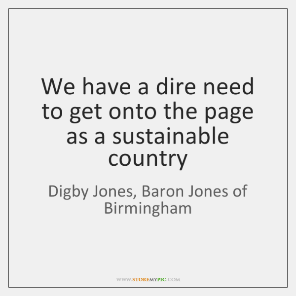 We have a dire need to get onto the page as a ...
