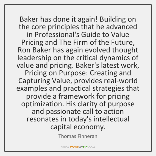 Baker has done it again! Building on the core principles that he ...