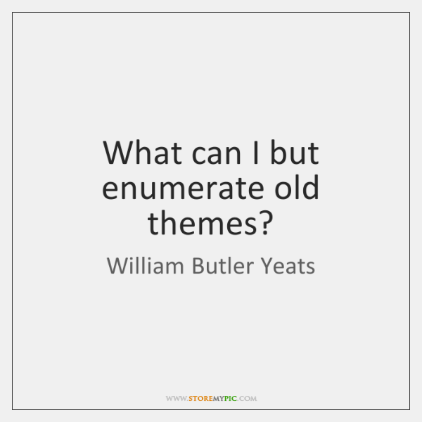 william butler yeats themes