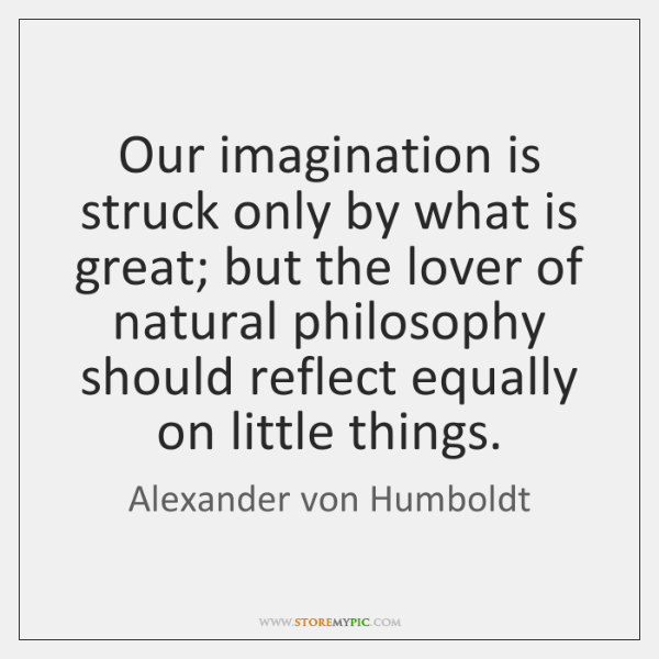 Our imagination is struck only by what is great; but the lover ...