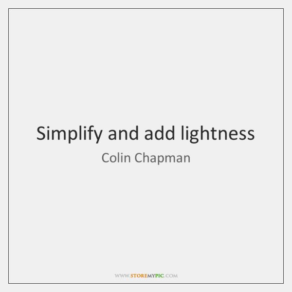 Simplify and add lightness