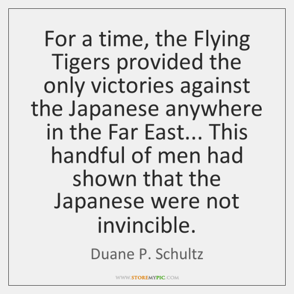 For a time, the Flying Tigers provided the only victories against the ...