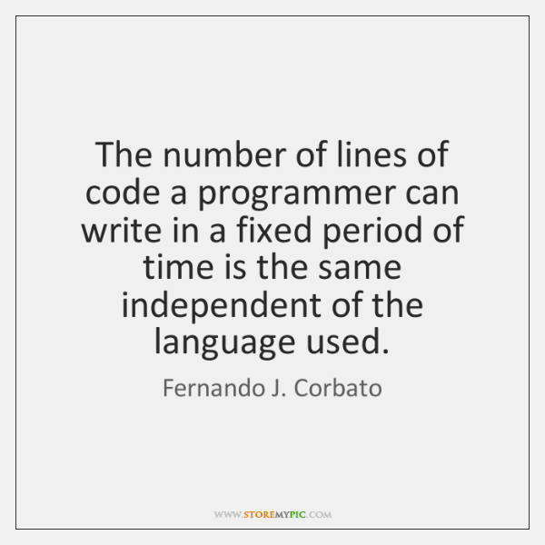 The number of lines of code a programmer can write in a ...