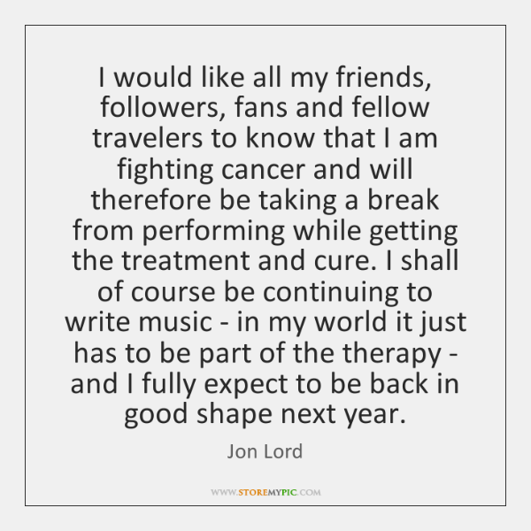 I would like all my friends, followers, fans and fellow travelers to ...