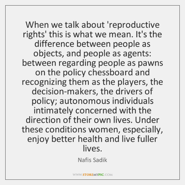 When we talk about 'reproductive rights' this is what we mean. It's ...