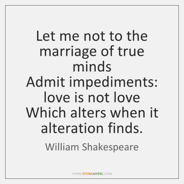 admit impediments