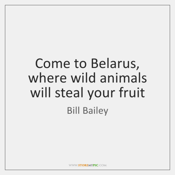 Come to Belarus, where wild animals will steal your fruit