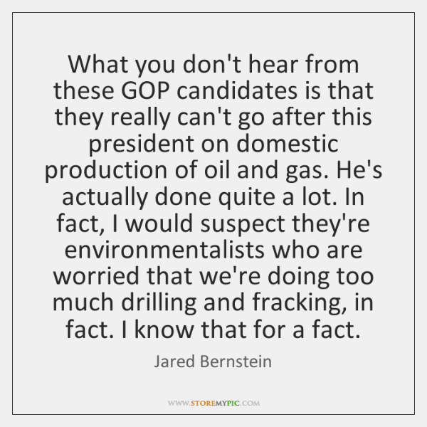 What you don't hear from these GOP candidates is that they really ...
