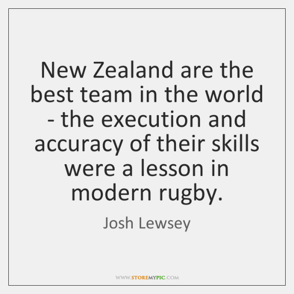 New Zealand are the best team in the world - the execution ...